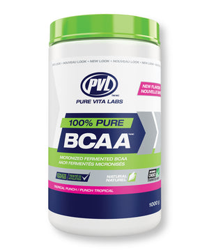 100% Pure BCAA (Micronized Fermented BCAA) – Tropical Punch - 1000g
