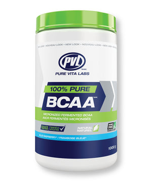 100% Pure BCAA (Micronized Fermented BCAA) – Blue Raspberry - 1000g