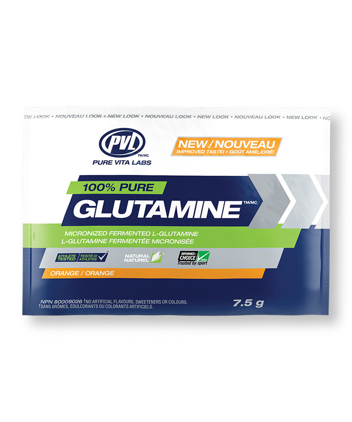 100% Pure Glutamine 7.5g - Orange Flavour