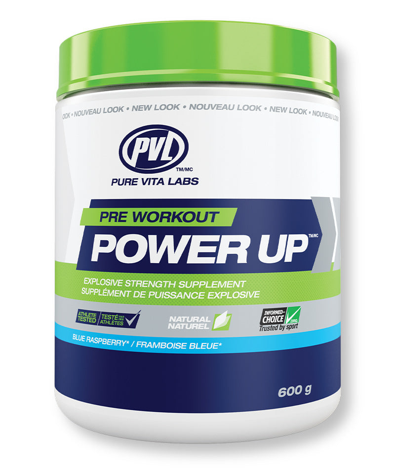 PVL Power Up Explosive Strength Supplement – Blue Raspberry Flavour