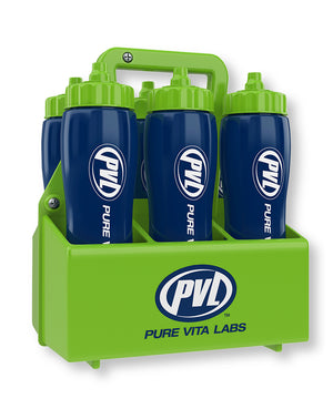 PVL Blue Water Bottle Carrier - 6 pack