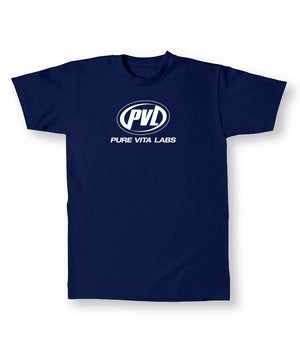 PVL #PUREE Tee Navy Blue