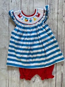 Smocked Beach Themed Girls Set