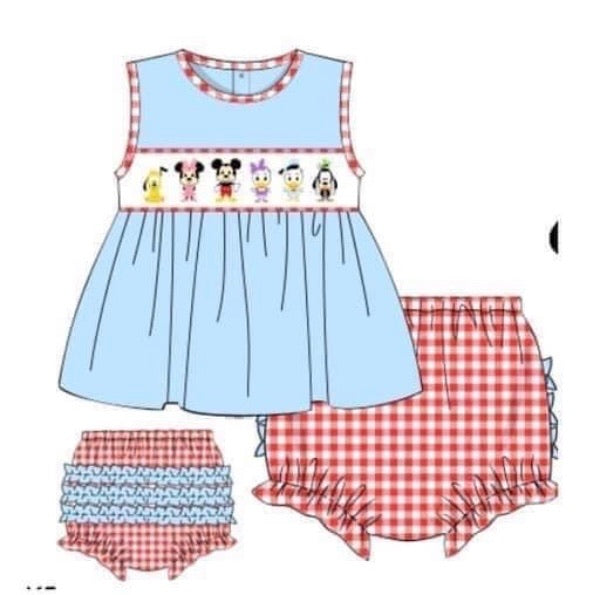 PREORDER: Mickey & Friends Girls Bloomer Set ~ ETA: June