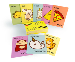 Taco Cat Goat Cheese Pizza cards