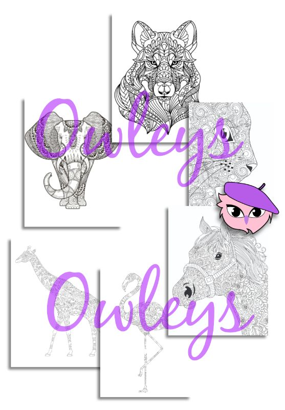 digital printable coloring pages animals 010