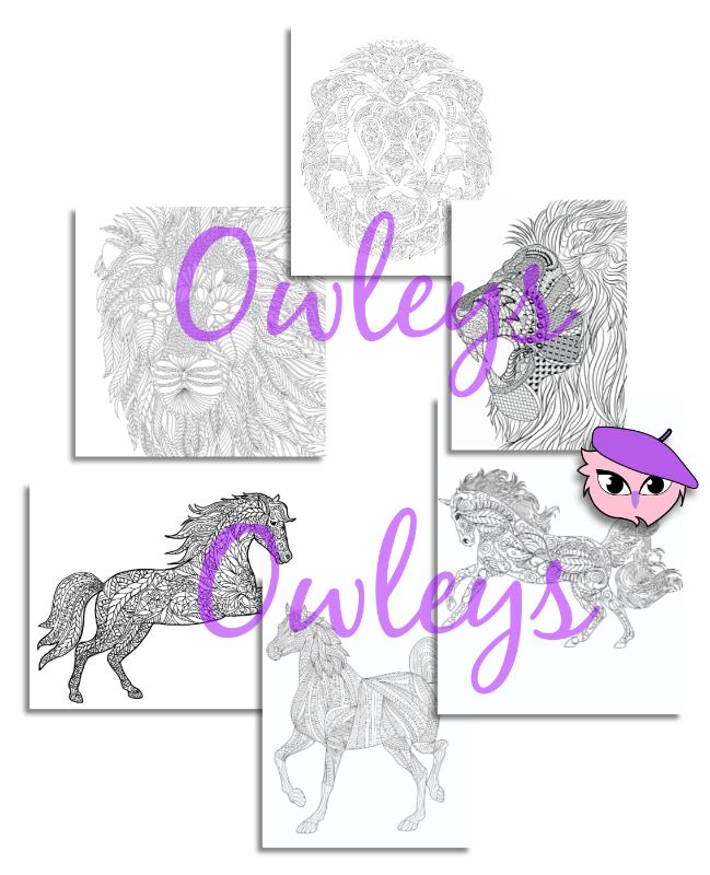 digital printable coloring pages animals 040