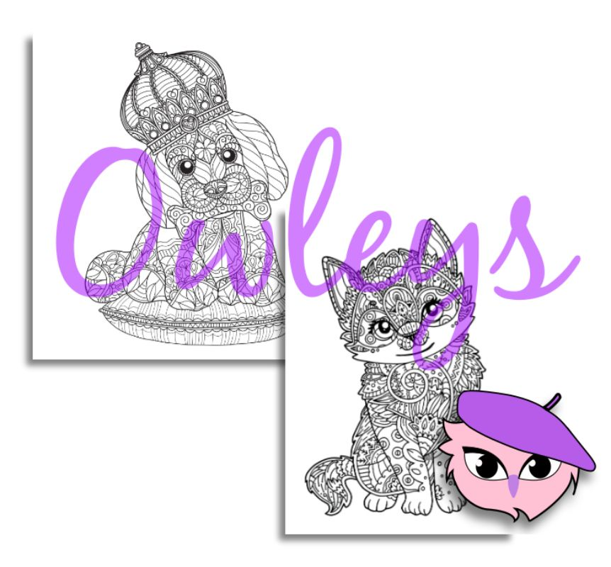 digital printable coloring pages animals 140