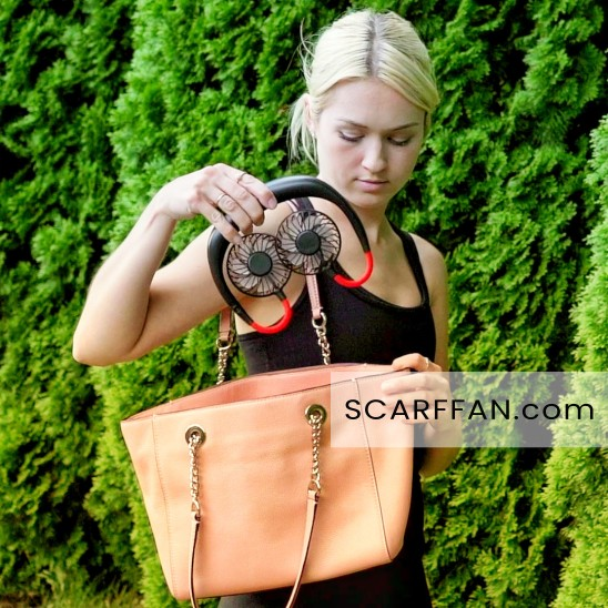 portable fan easily carry in the bag