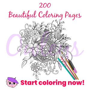 Owleys Printable Coloring Book with 200 Beautiful Coloring Pages