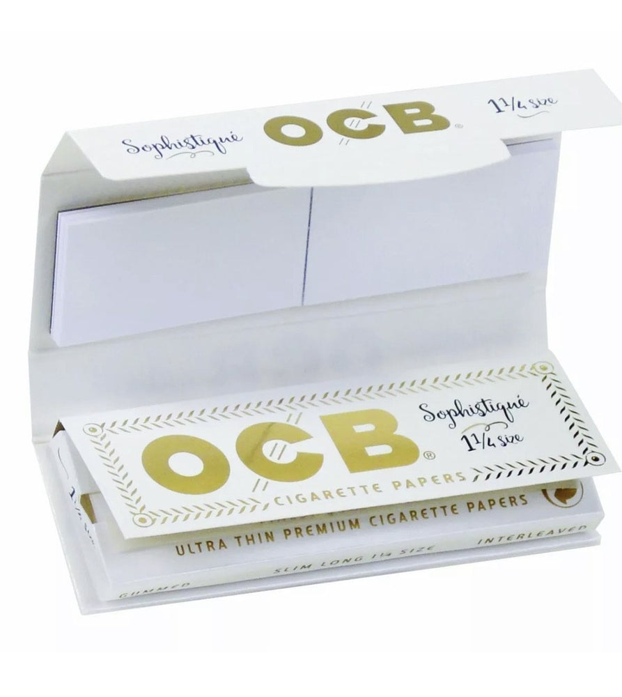 24pc Display - OCB® Sophistique 1-1/4 Rolling Papers & Tips - SoBe Hookah