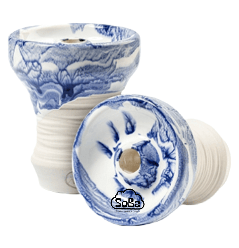 Adalya ATH Turkish Phunnel Hookah Bowl Glazed Blue - SoBe Hookah
