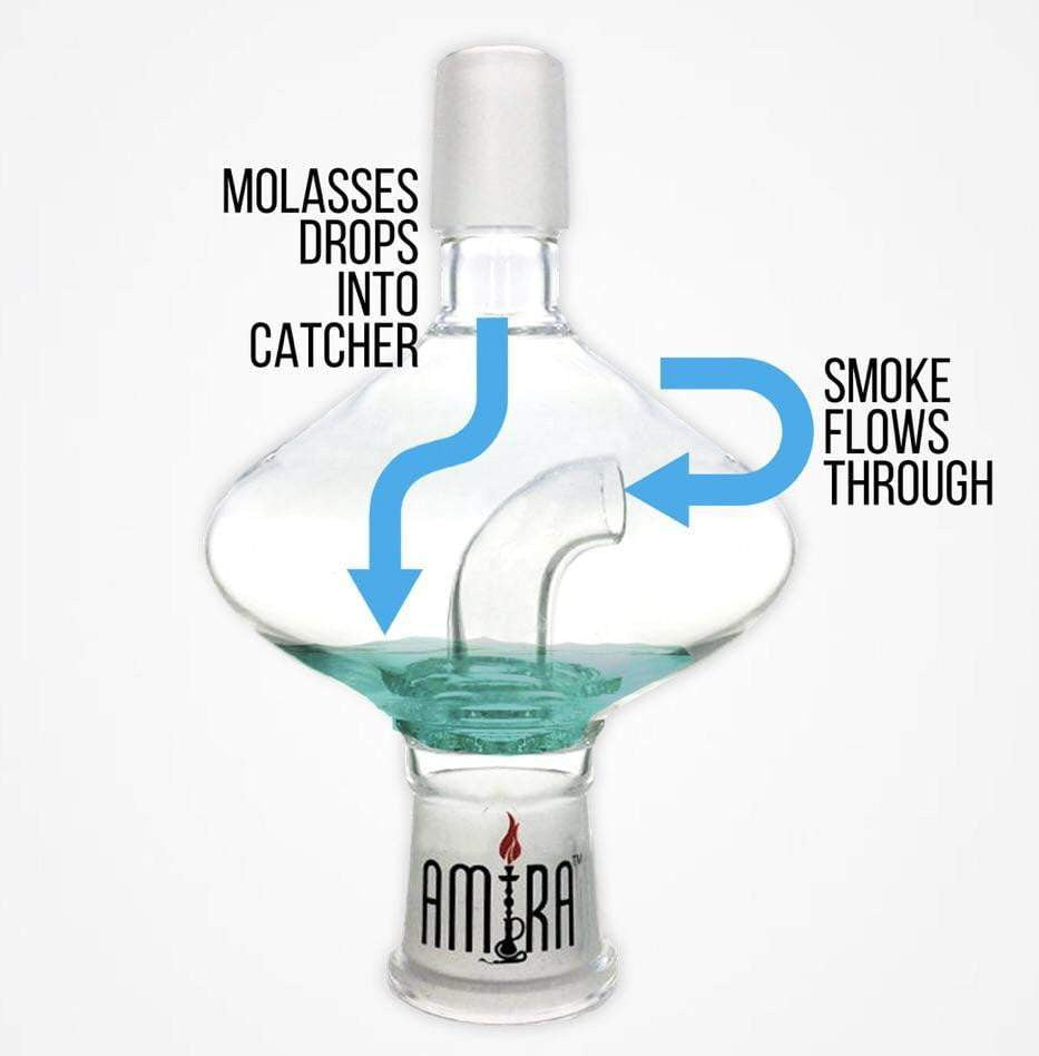 Amira Hookah Glass Oil Catcher Filter - SoBe Hookah