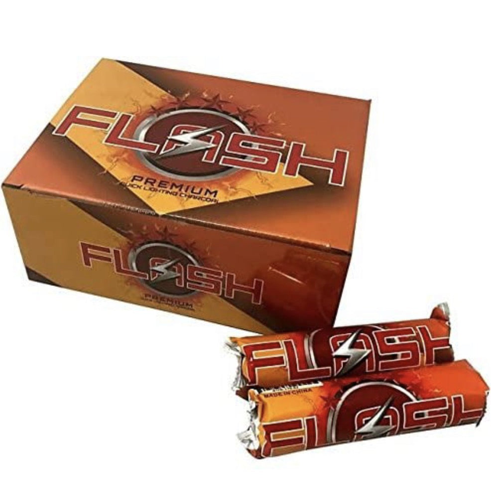 Flash 33mm Quick-Light Charcoal Box 100pc - SoBe Hookah