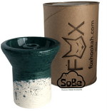FOX Phunnel Hookah Bowl Glazed white Clay - SoBe Hookah