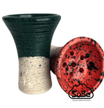 FOX Tall Hookah Bowl Glazed white Clay - SoBe Hookah