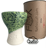 FOX Turkish Hookah Bowl Glazed white Clay - SoBe Hookah
