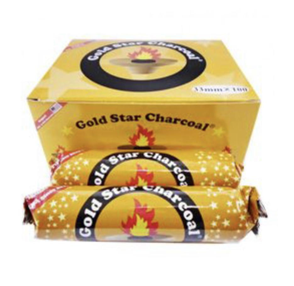 Gold Star 33mm Quick-Light Charcoal Box 100pc