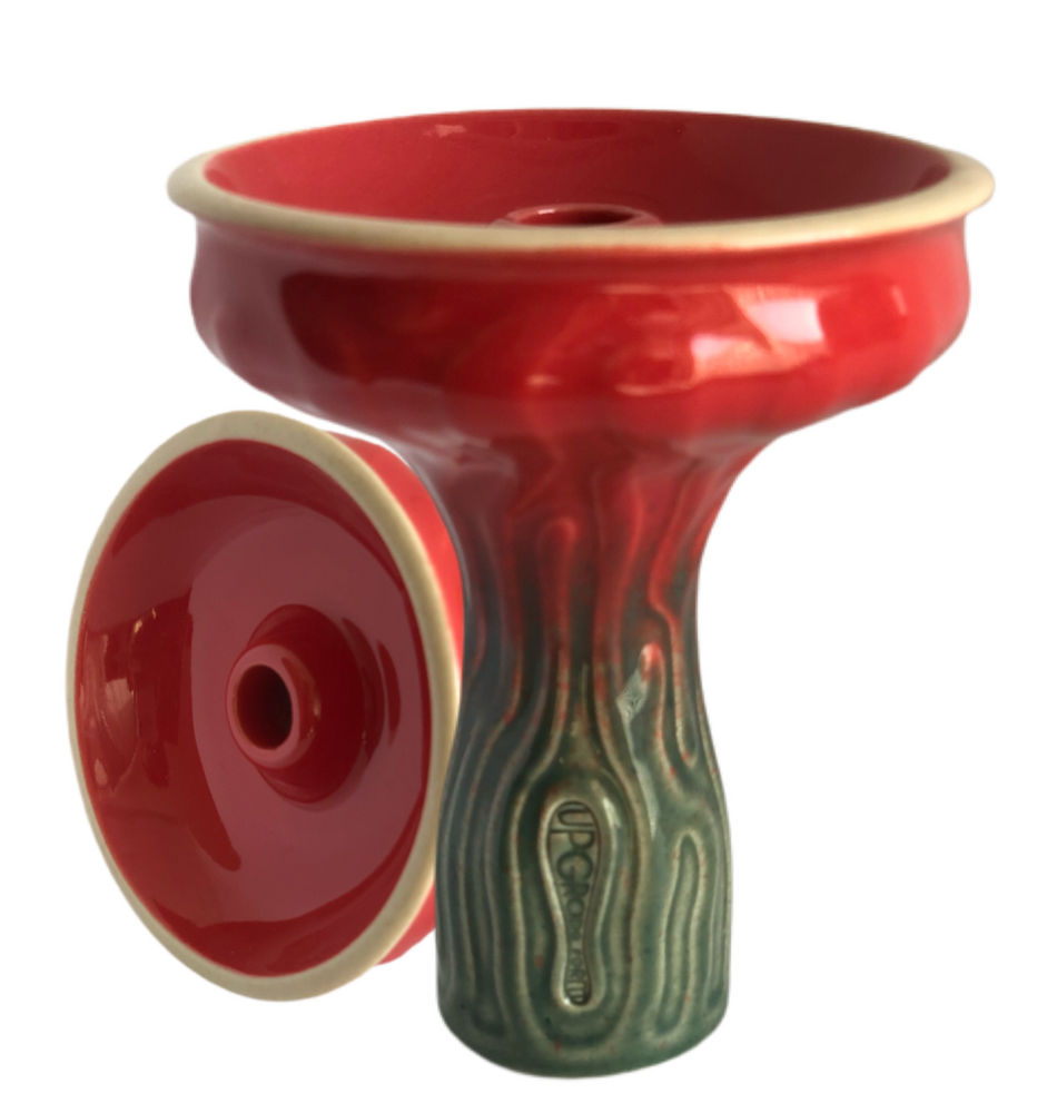 UPGRADE FORM TERRA GLAZE PHUNNEL BOWL - Red Over green