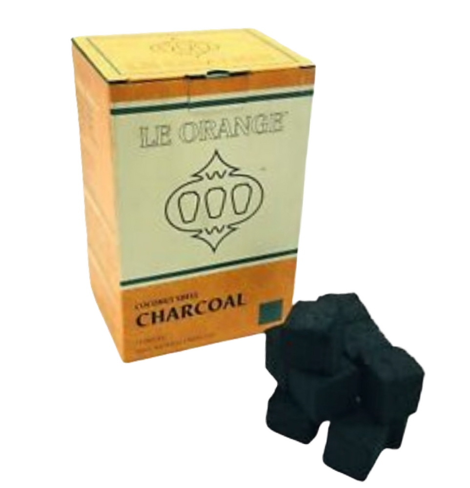Le Orange Coconut Coals 1 kg ( 72 Large Cubes)