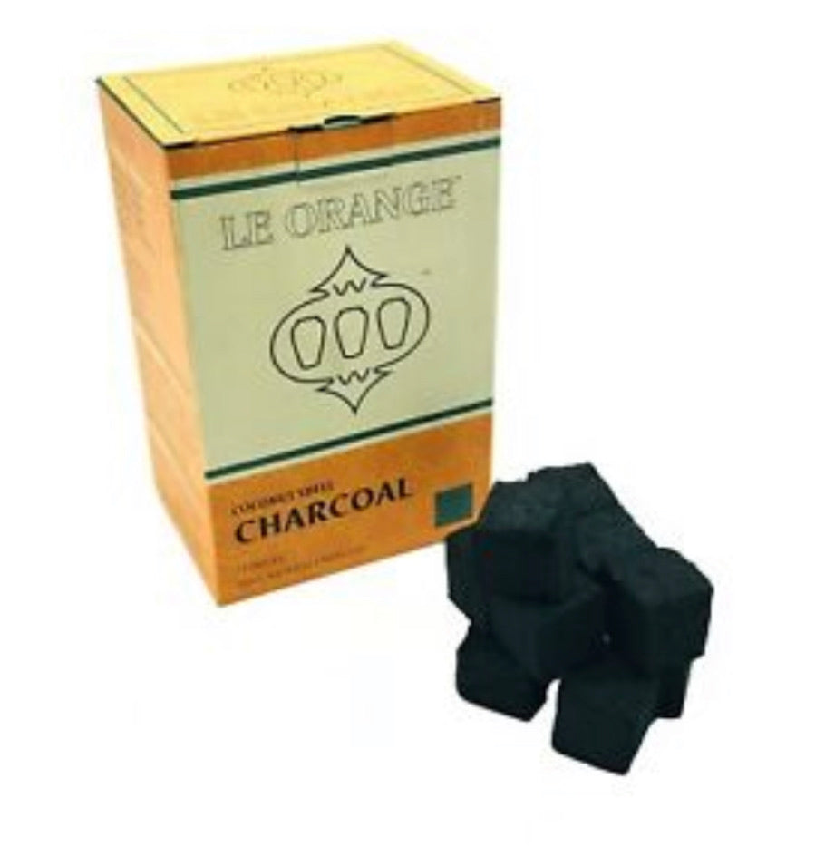 Le Orange Coconut Coals 1 kg ( 72 Large Cubes) - SoBe Hookah