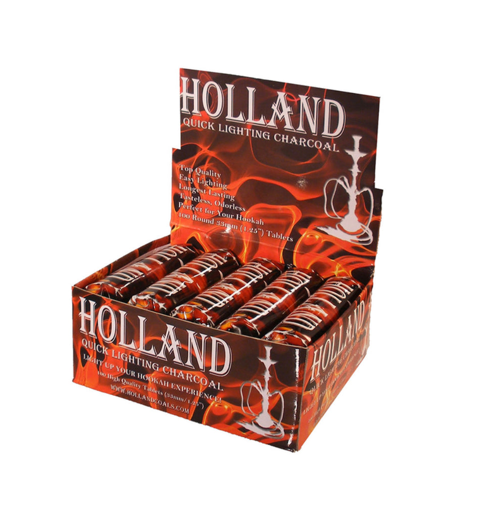 Roll of 10 Quick Light Charcoal 33mm tablet Holland