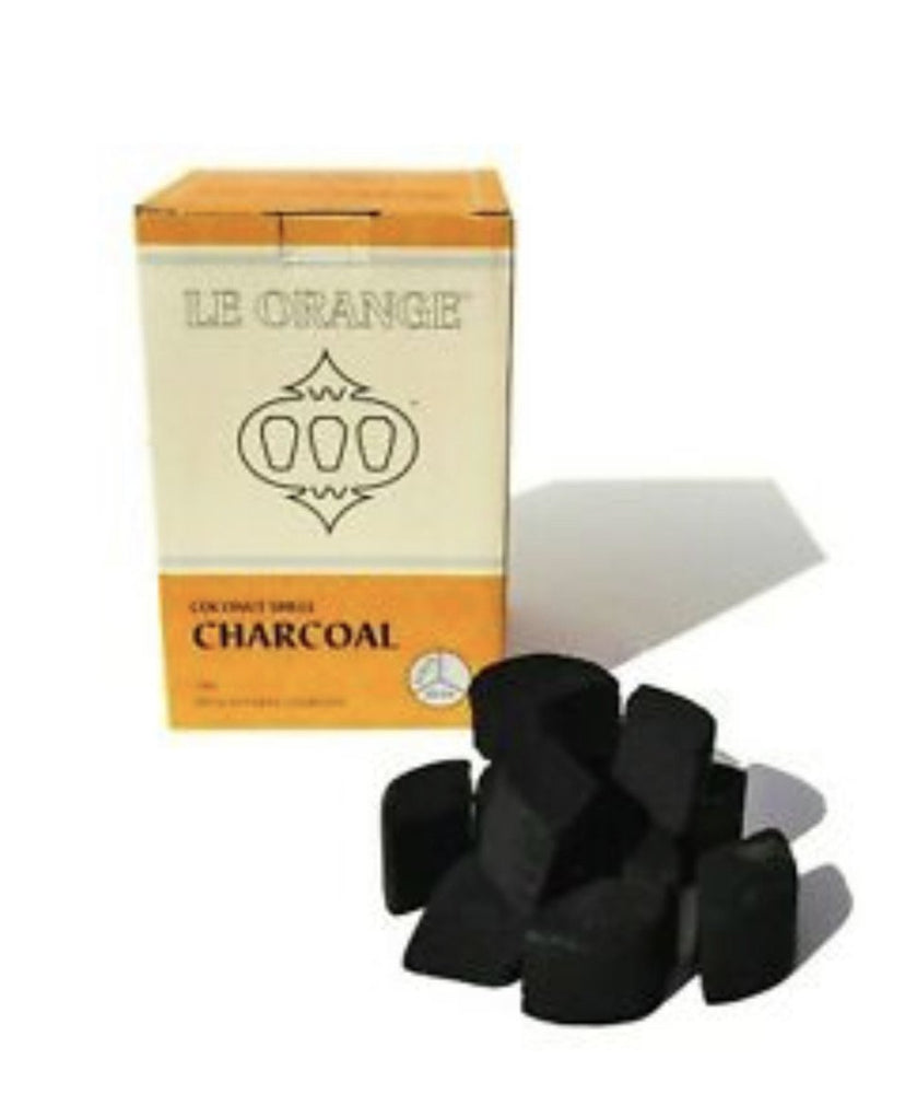 Le Orange Hookah Coconut Shell Charcoal 100% Natural Lotus Head 2.2lb of pieces - SoBe Hookah