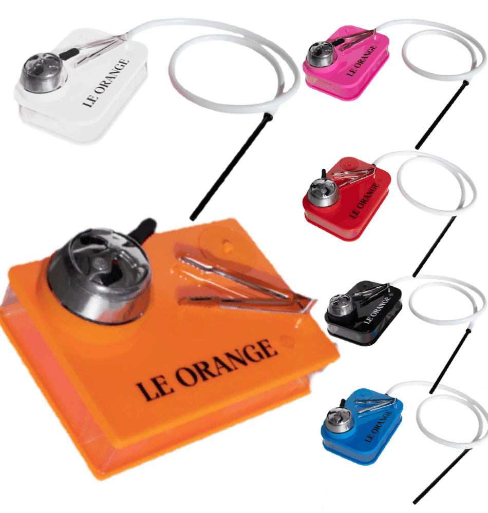 Le Orange Portable Book Hookah Set