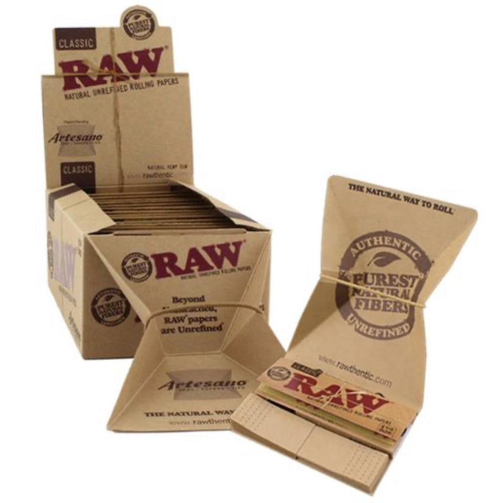 RAW Artesano 1 1/4 Box Tips & Tray - 15 Count Box