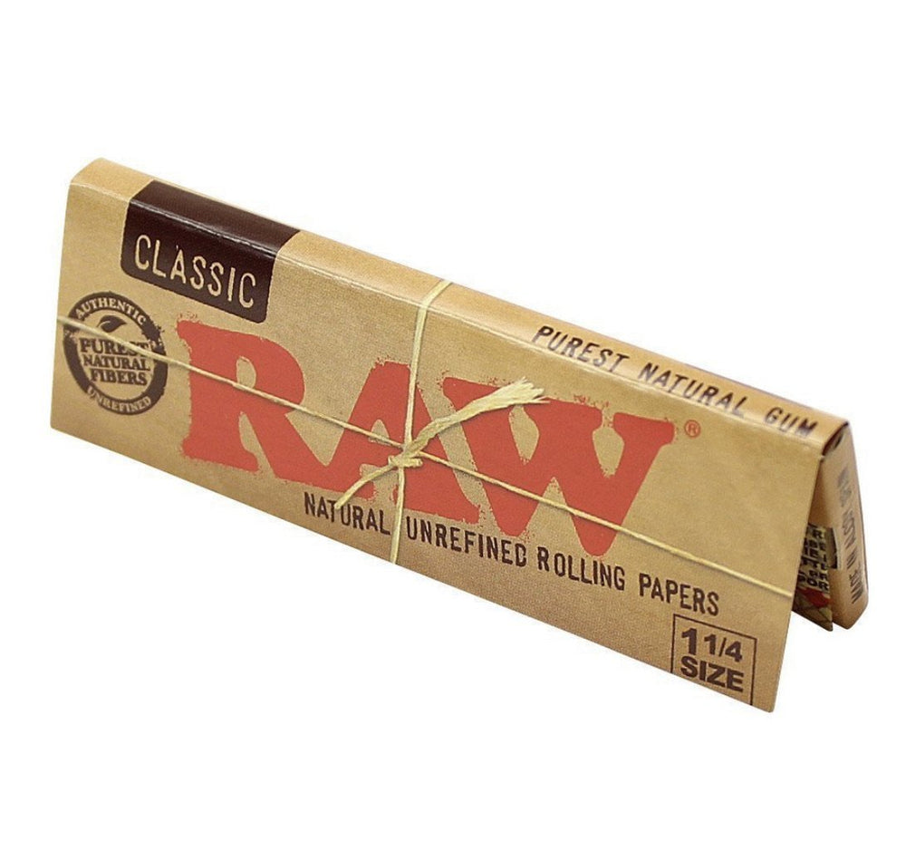 RAW Classic 1 1/4 Rolling Papers 24 CT - SoBe Hookah