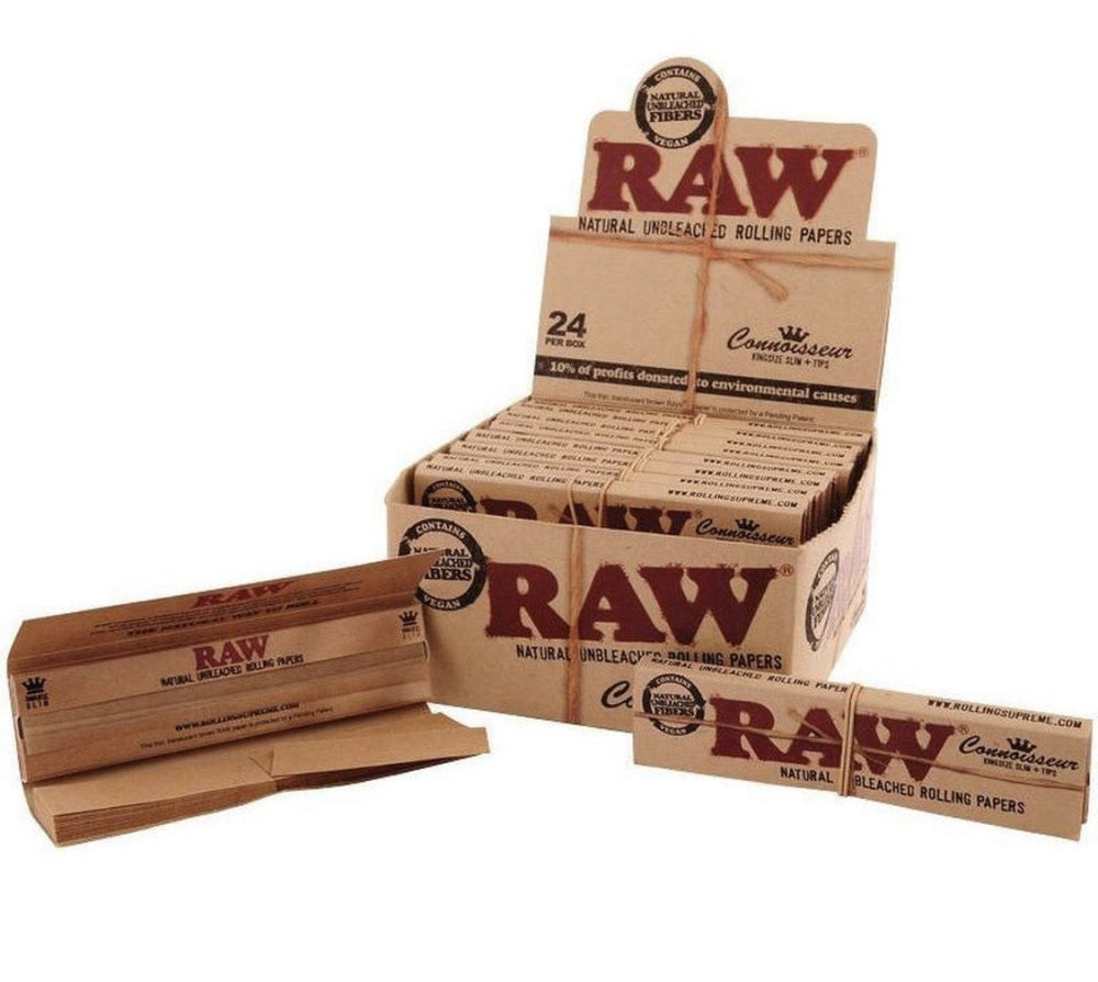RAW CONNOISSEUR KING SIZE SLIM W/ TIPS