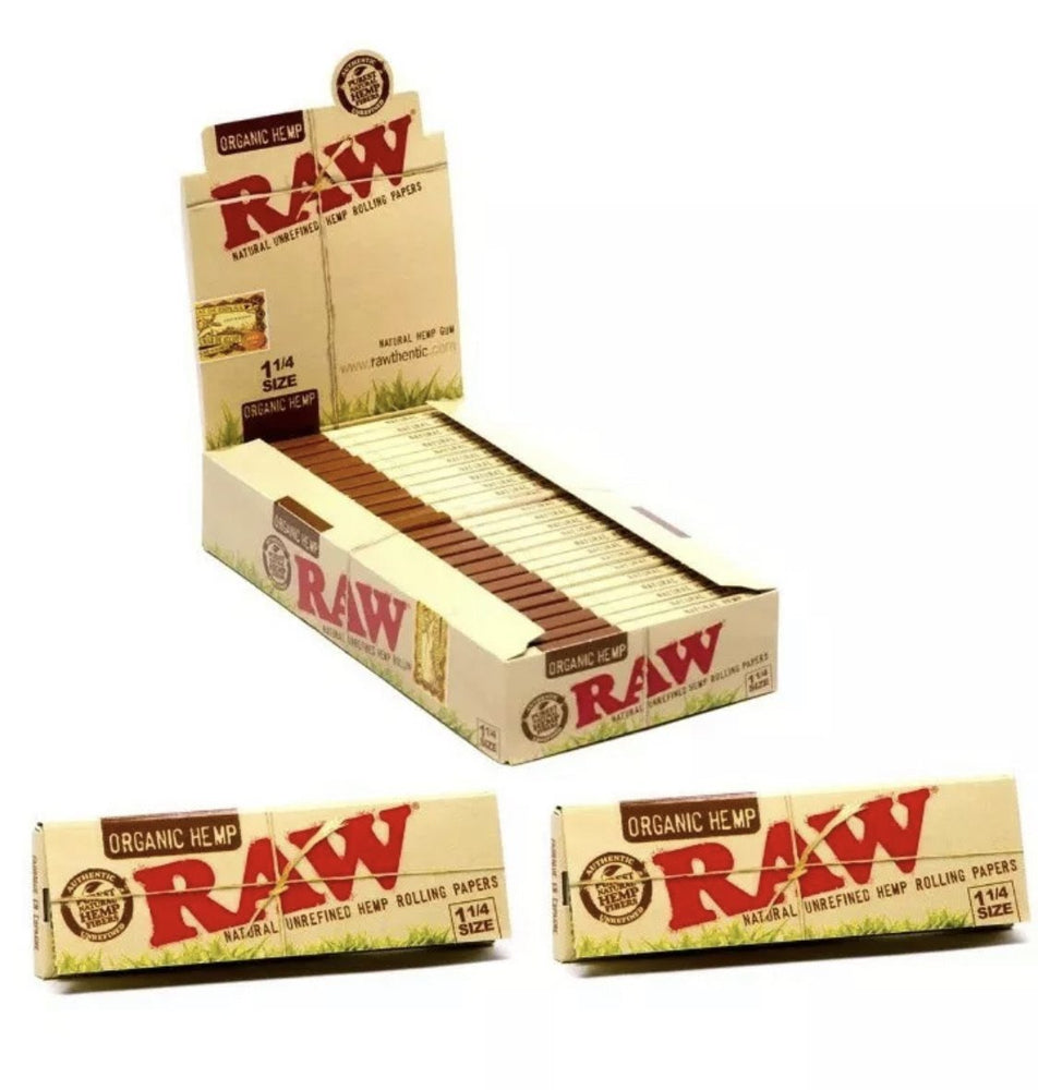 RAW Organic  Hemp 1 1/4 Rolling Papers 24 CT