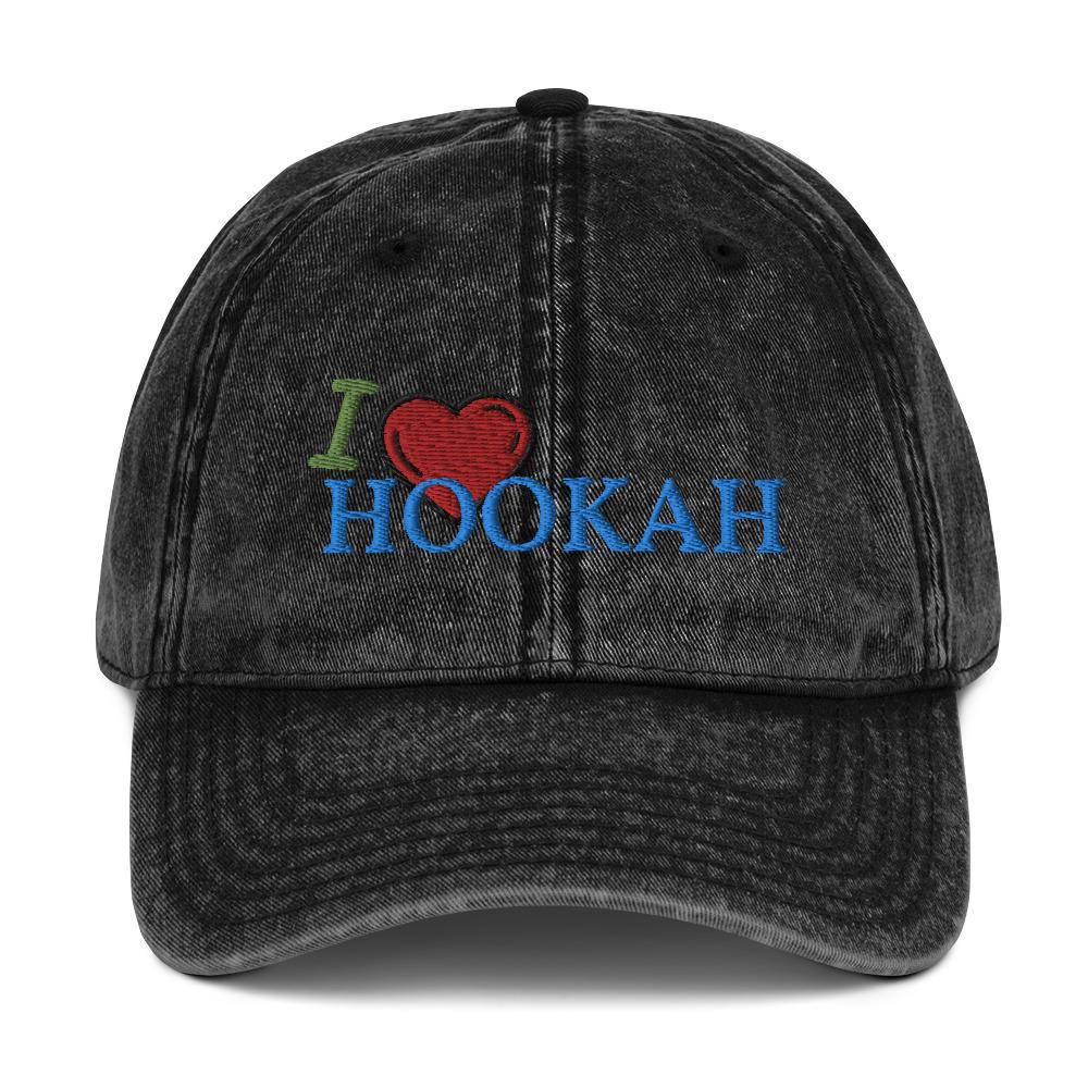 Vintage Cotton Twill Cap I Love Hookah