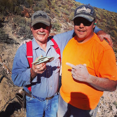 Jesse Robbins and his Dad Tom mining turquoise in Nevada.