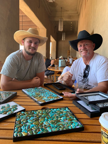 Danny and Tristan Otteson with Royston Turquoise and Thunderbird Turquoise