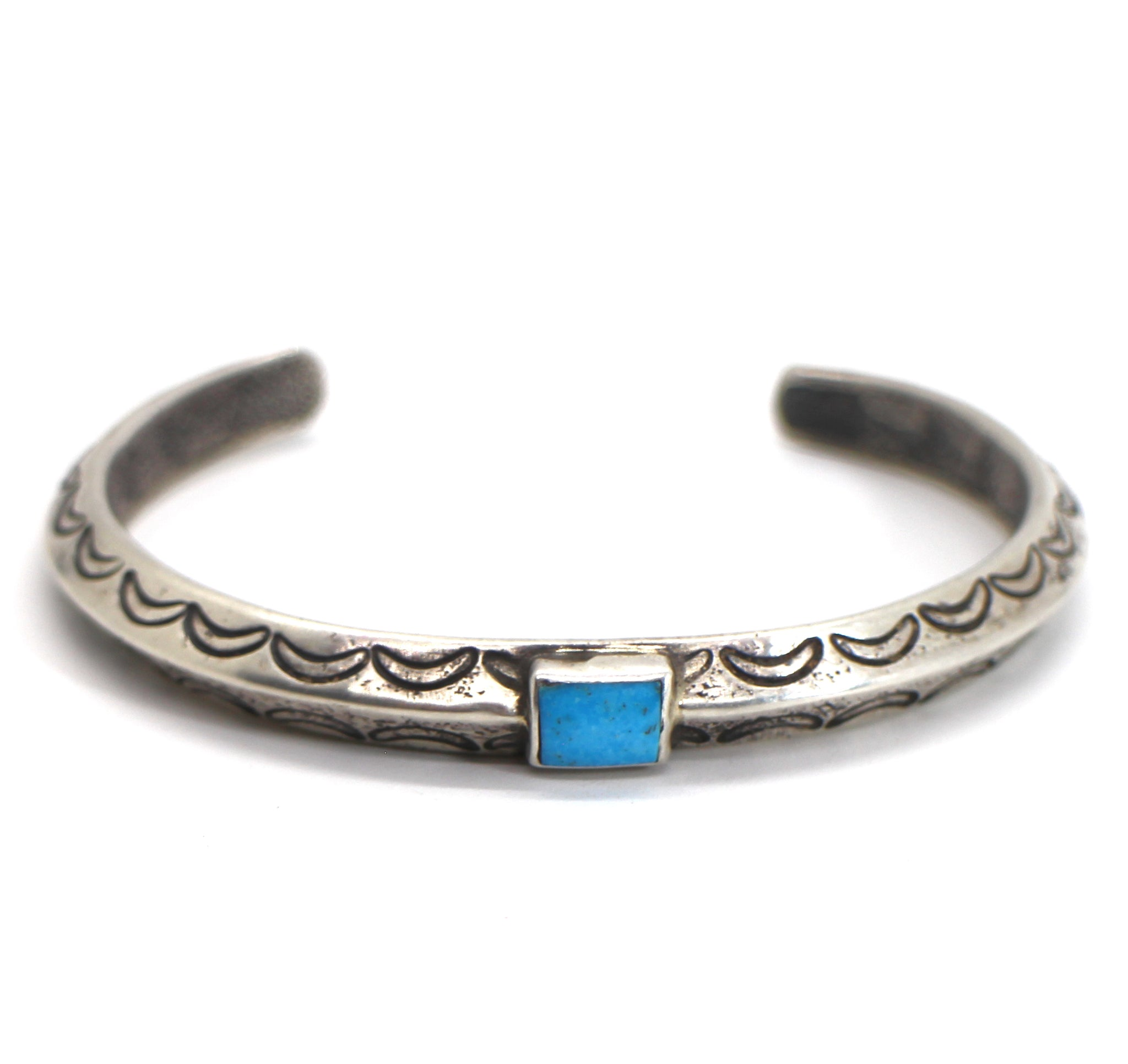 Jesse Robbins Triangle Bracelet with Blue Gem