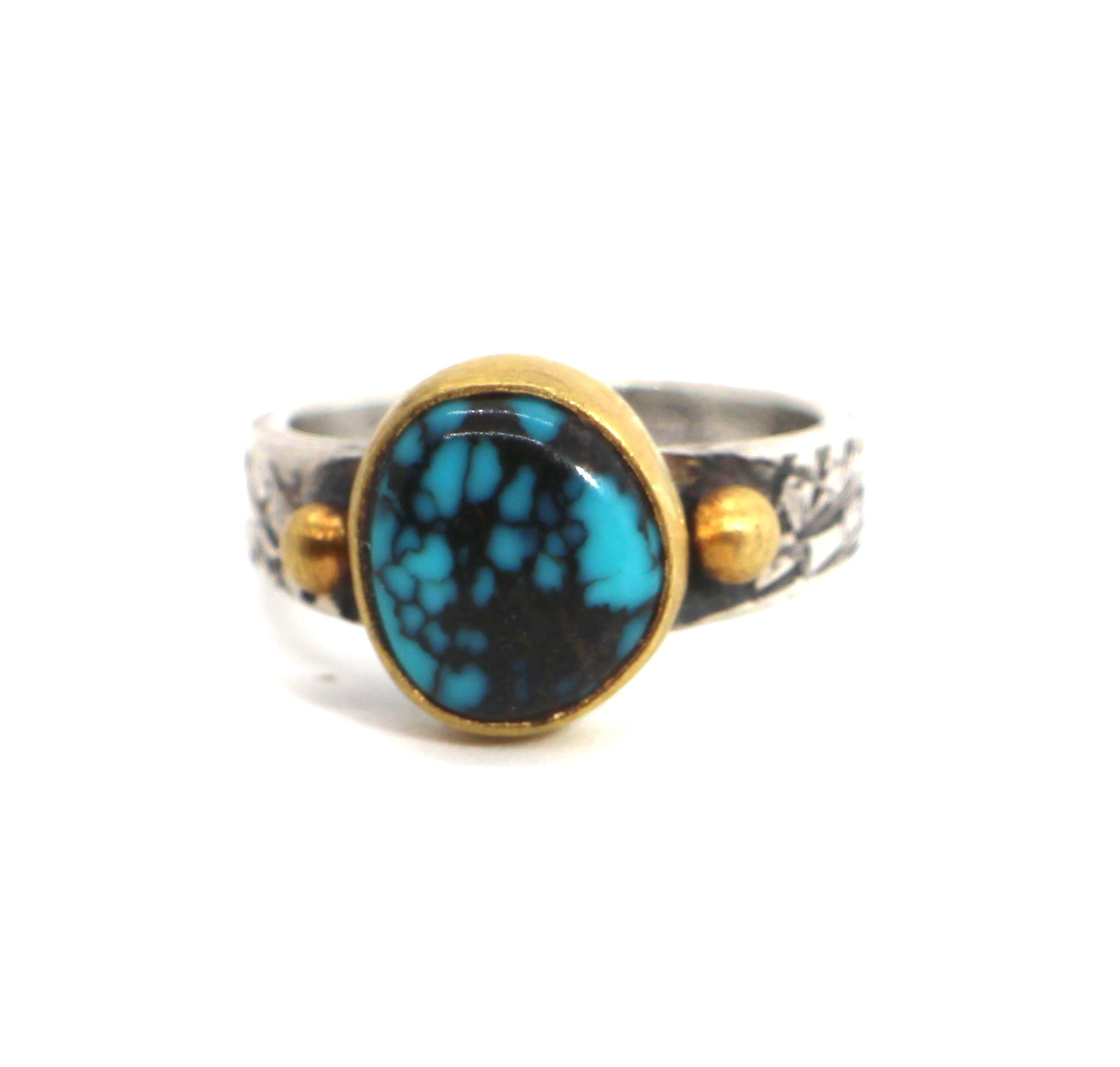 Jesse Robbins Apache Blue and Gold Ring