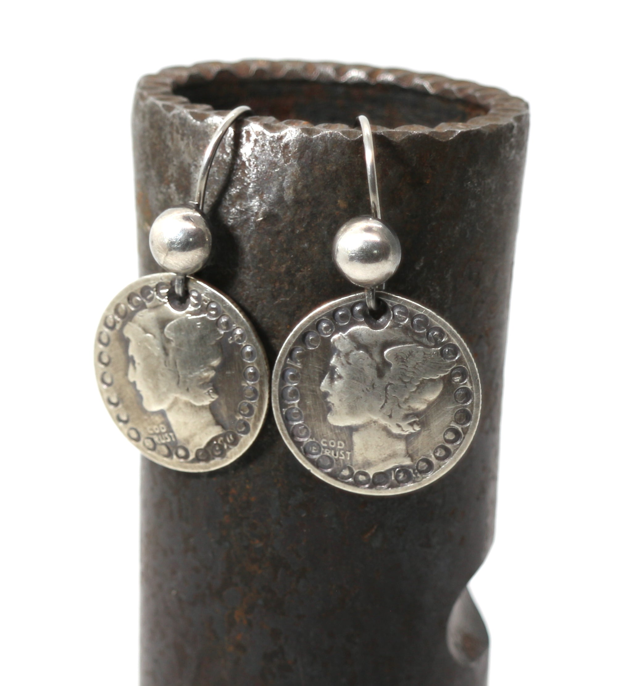 Jesse Robbins Mercury Dime Earrings