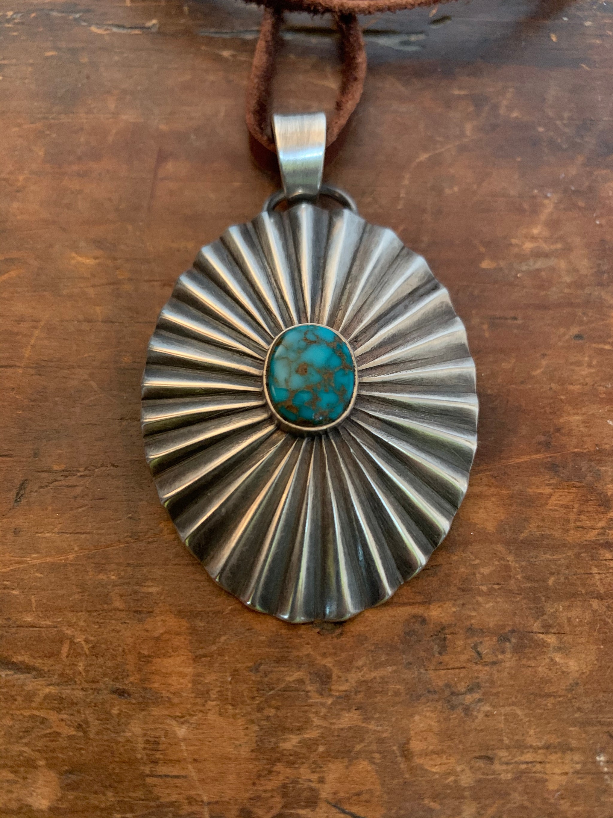 Radiance Pendant with High Grade Cheyenne Turquoise