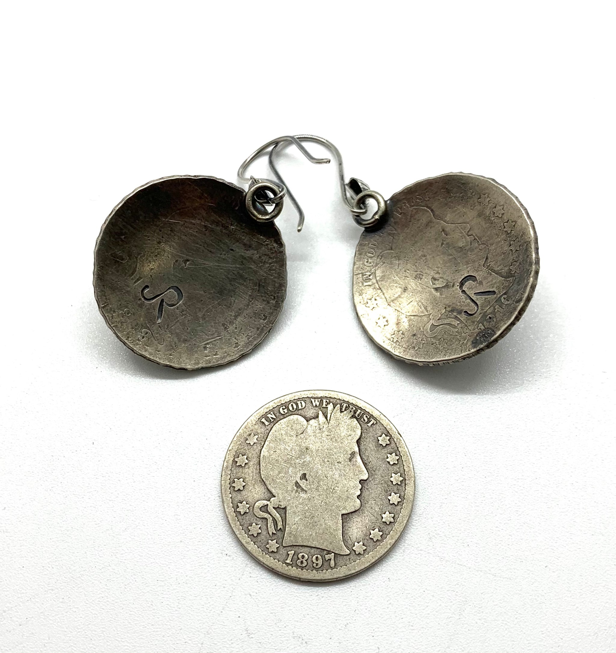 Jesse Robbins Barber Earrings with Spiny Oyster