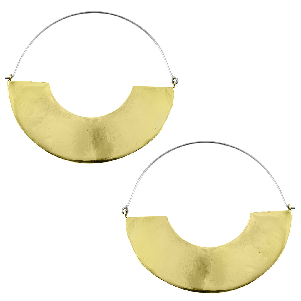 Golden Arc Titanium Earrings