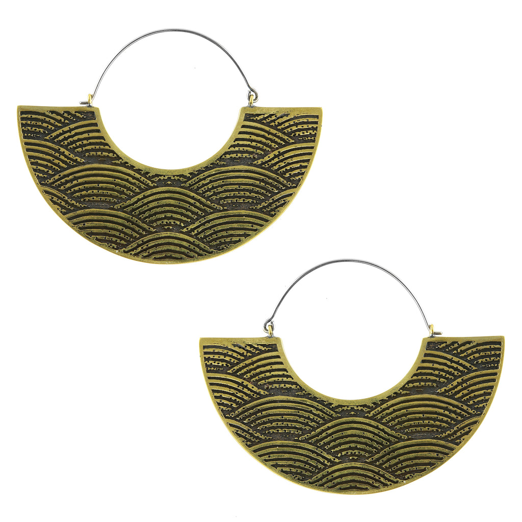 Pulse Titanium Earrings