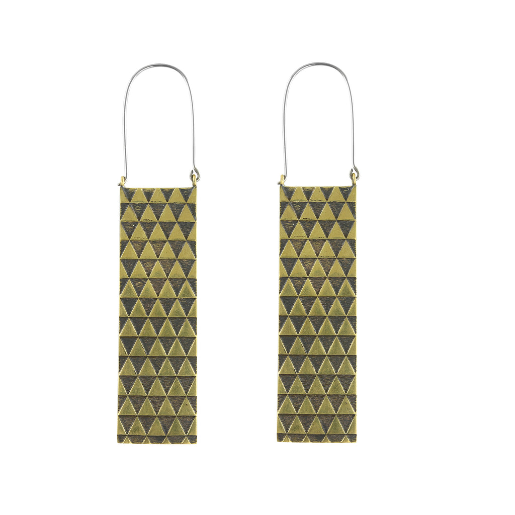 Fifty-Fifty Titanium Earrings