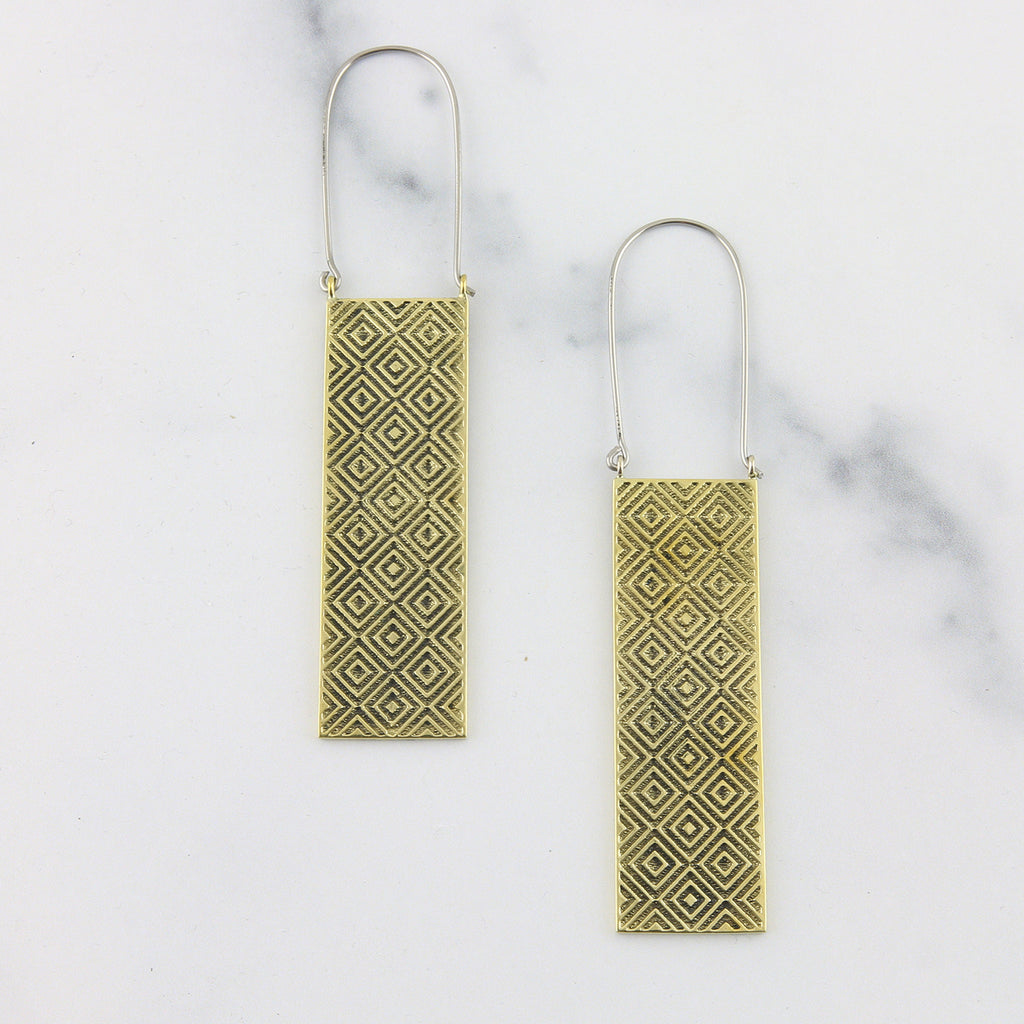 Trellis Titanium Earrings