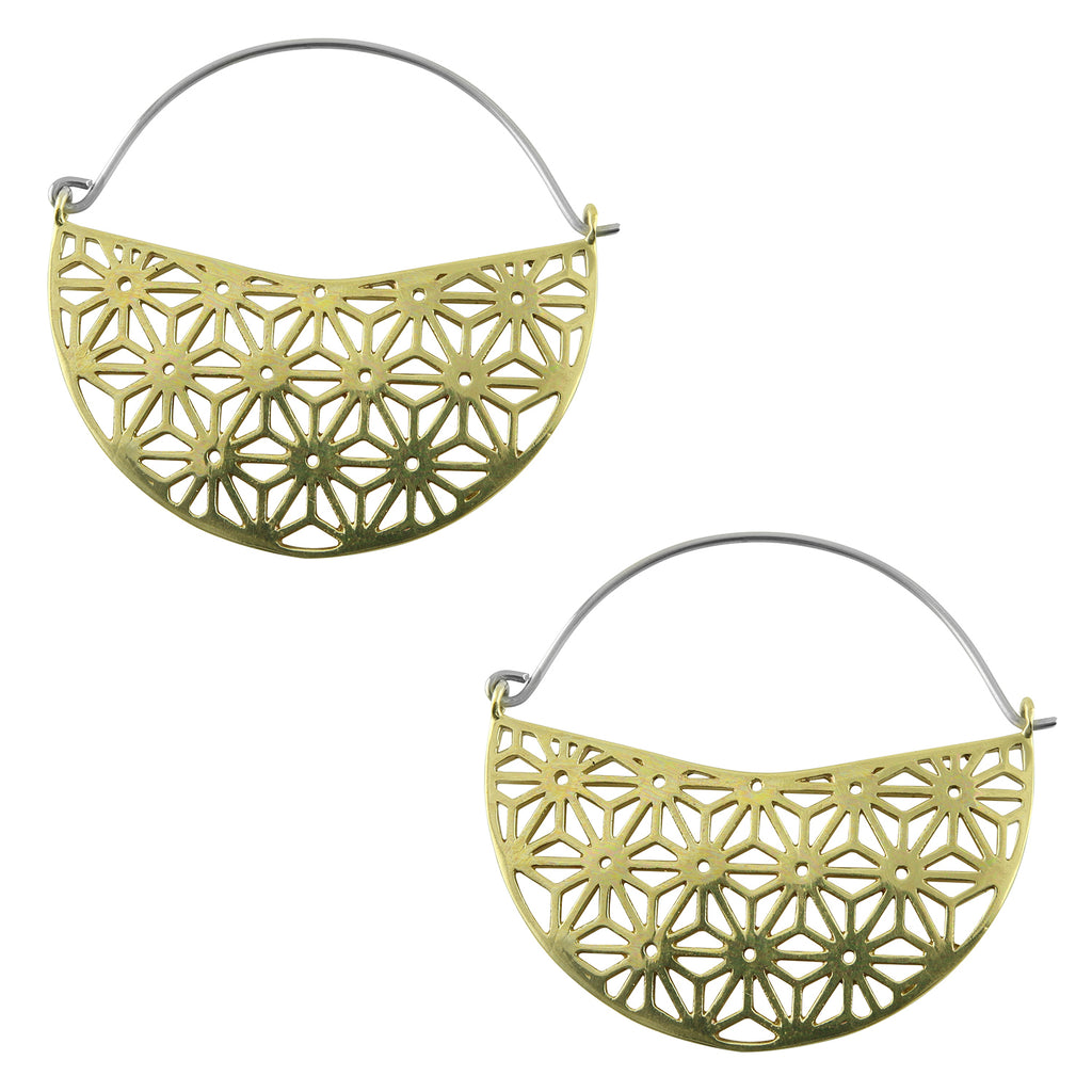 Asanoha Titanium Hangers / Earrings