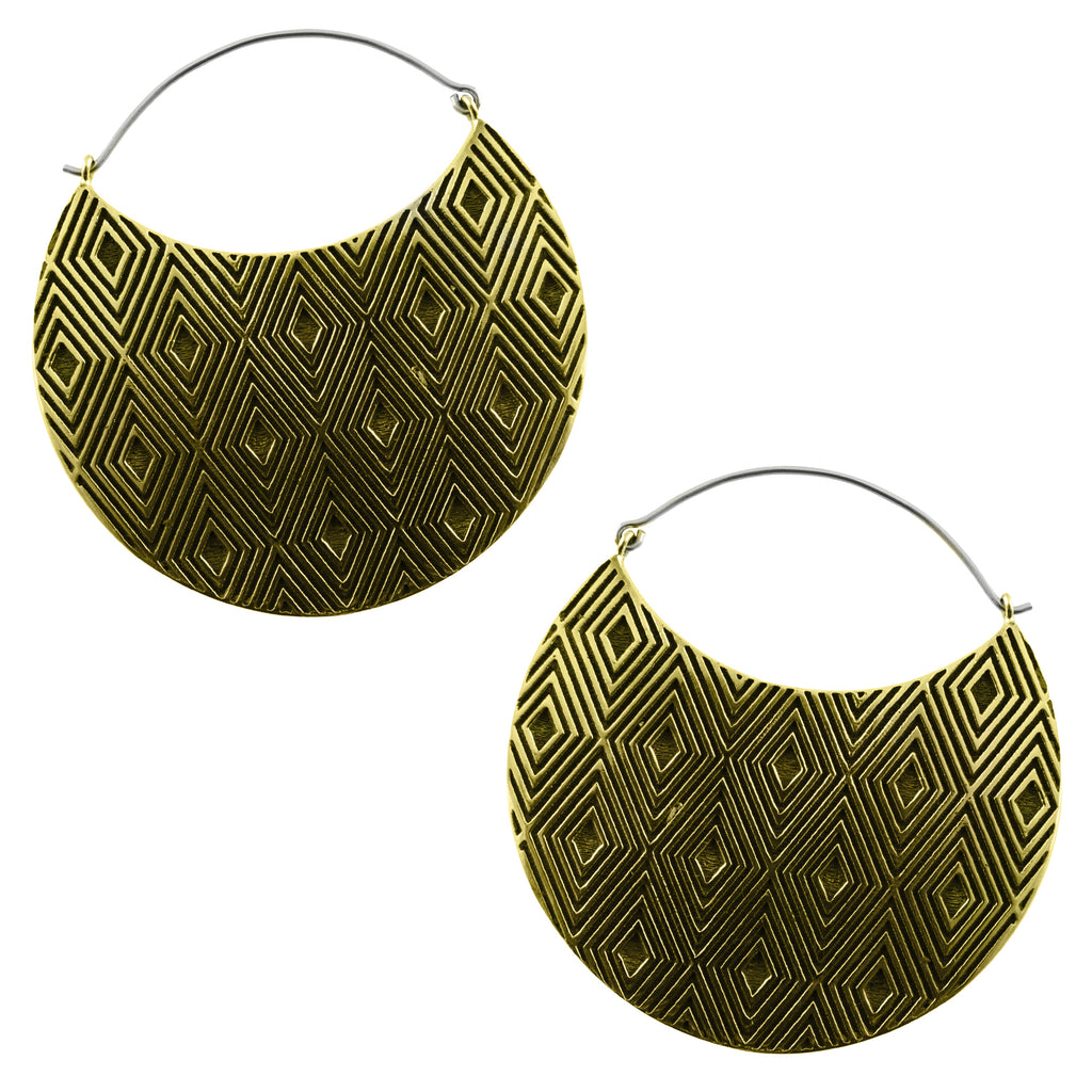 Allotrope Titanium Earrings