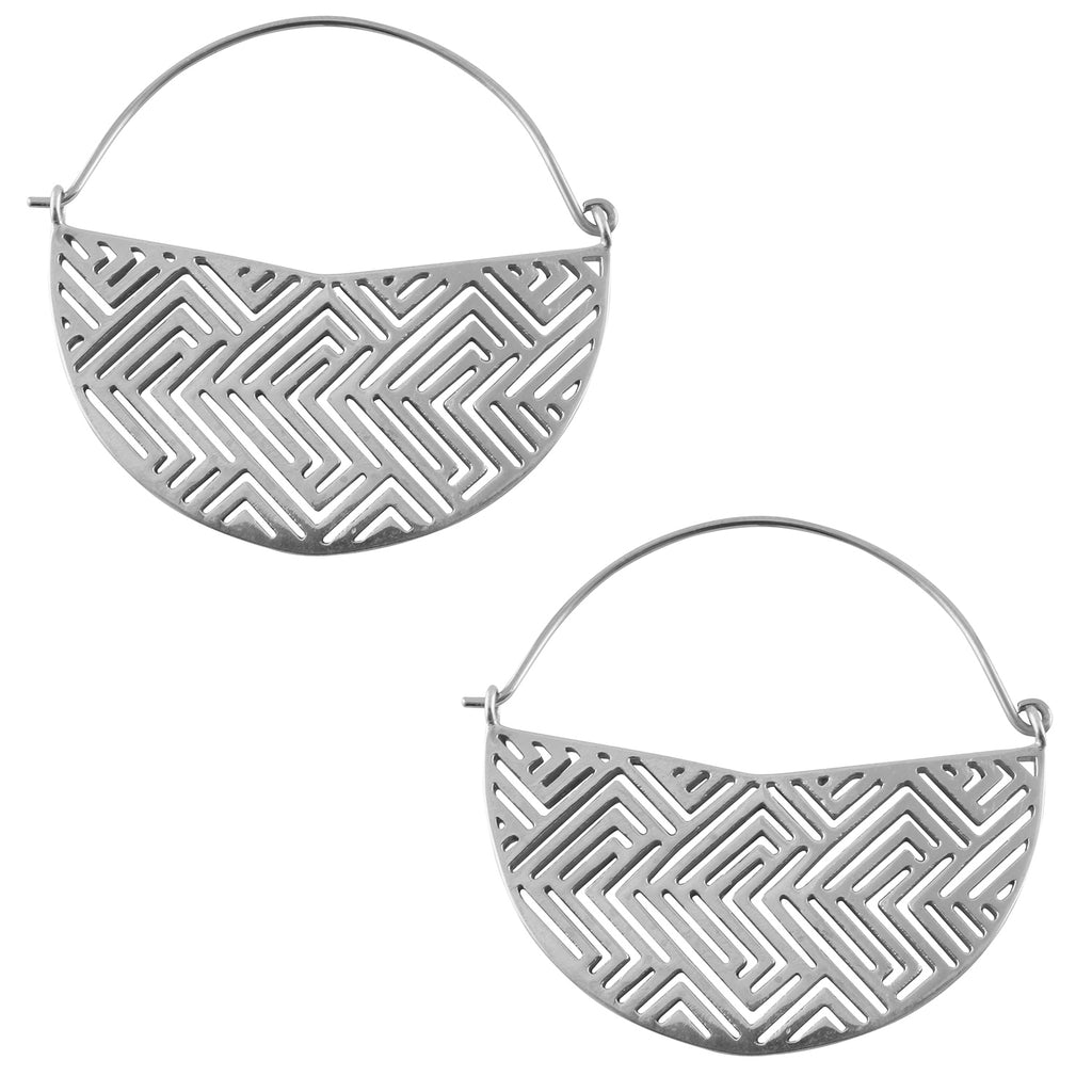 Silver Boundary Titanium Hangers / Earrings