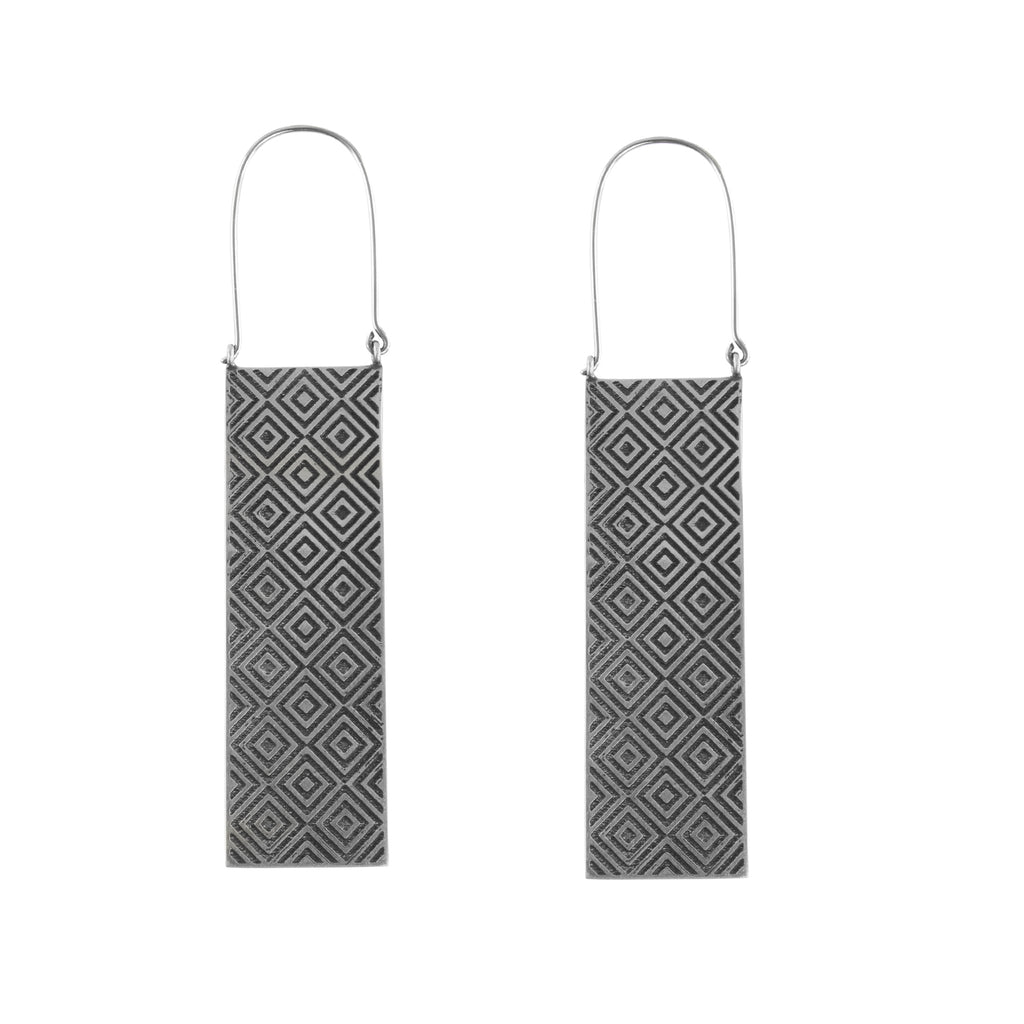Silver Trellis Titanium Earrings