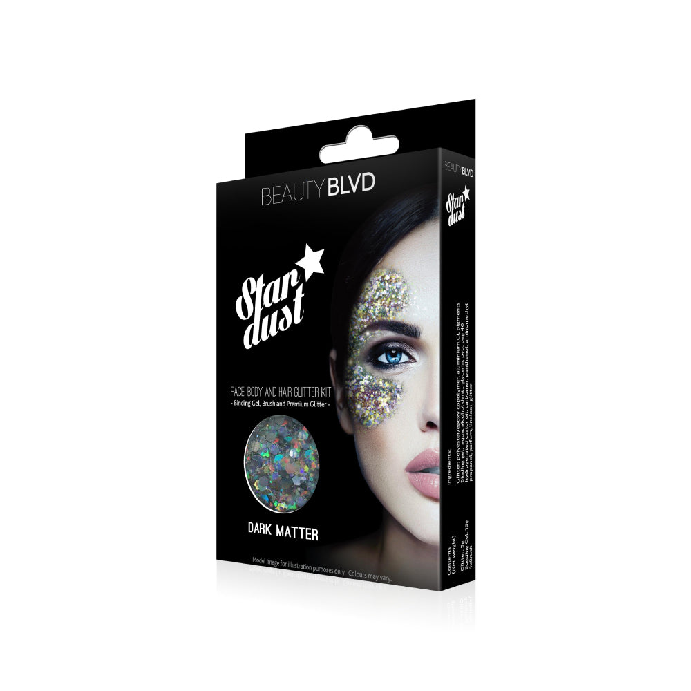 Stardust Face, Body and Hair Glitter Kit - Dark Matter | Beauty BLVD