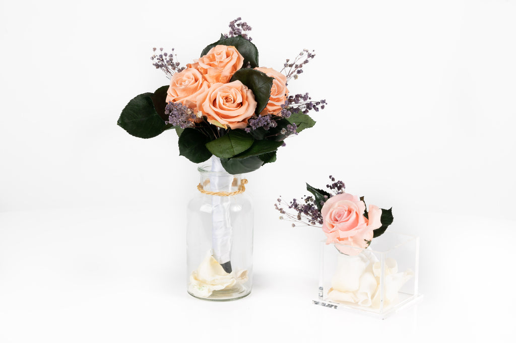 Keep your the most precious moment forever with your PRESERVED wedding bouquet